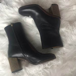 Authentic Gucci Boots With Gold Heel